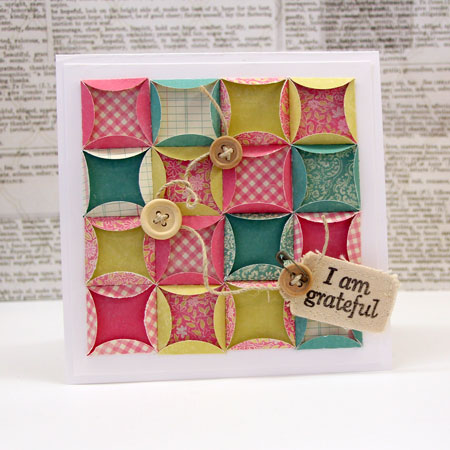 The Folded Circles Background, Tutorial and Card by Julia Stainton