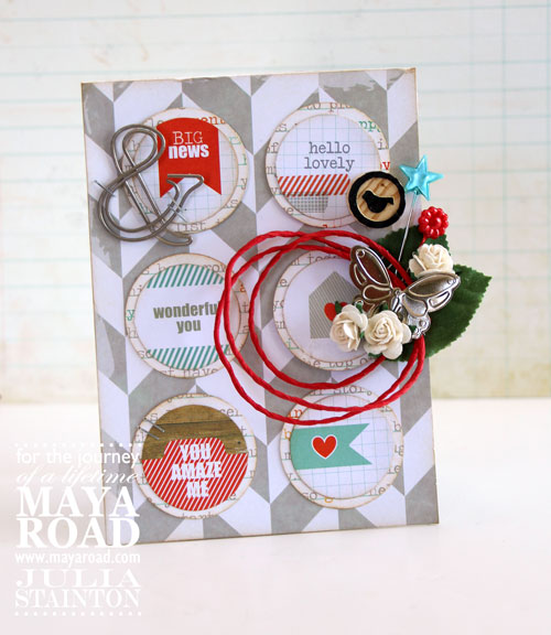 Hello Lovely Card by Julia Stainton - Chic Tags Meets Maya Road